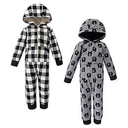 Luvable Friends® 2-Pack Bear Hooded Toddler Footies in Black