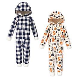 Hudson Baby® 2-Pack Forest Hooded Fleece Toddler Jumpsuits