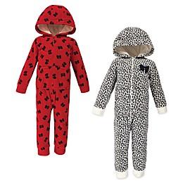 Little Treasure 2-Pack Leopard Bow Fleece Toddler Sleep 'N Plays