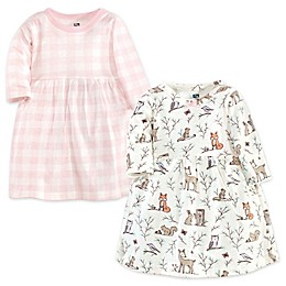 Hudson Baby® 2-Pack Enchanted Forest Dresses in Pink