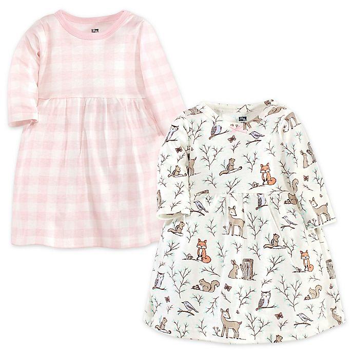Alternate image 1 for Hudson Baby® 2-Pack Enchanted Forest Dresses in Pink