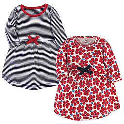 Touched by Nature® 2-Pack Red Flowers Organic Cotton Dresses