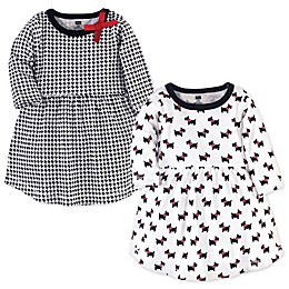 Hudson Baby® 2-Pack Scottie Dog Long Sleeve Dresses