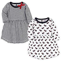 Hudson Baby® 2-Pack Scottie Dog Long Sleeve Dresses