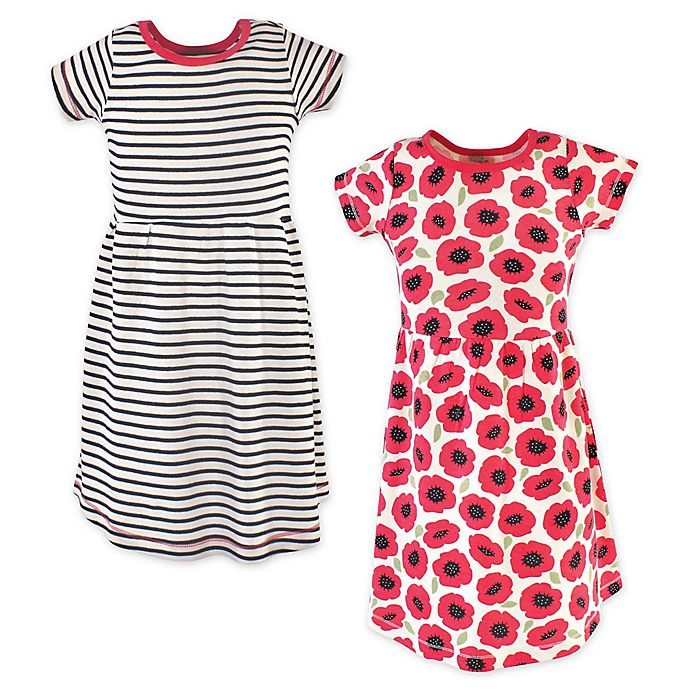 Alternate image 1 for Touched by Nature 2-Pack Poppy Organic Cotton Dresses in Red