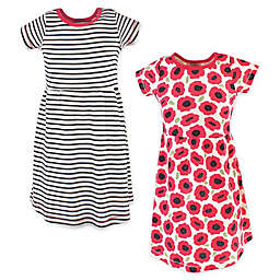 Touched by Nature 2-Pack Poppy Organic Cotton Dresses in Red