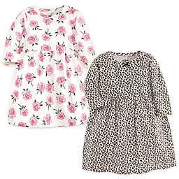 Little Treasure 2-Pack Leopard Rose Dresses