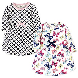 Touched by Nature® 2-Pack Bright Butterflies Organic Cotton Dresses in Blue