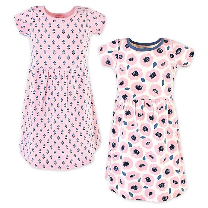Alternate image 1 for Touched by Nature 2-Pack Blossoms Organic Cotton Dresses in Pink