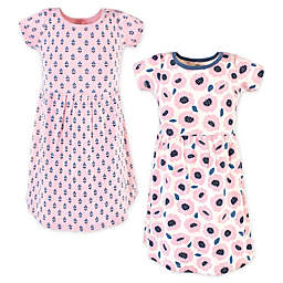 Touched by Nature 2-Pack Blossoms Organic Cotton Dresses in Pink