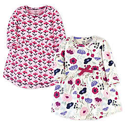 Touched by Nature® Size 4T 2-Pack Pink Botanical Organic Cotton Dresses