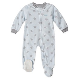 Absorba® Grey Star Footed Pajamas in Light Blue