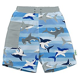 i play.® by green sprouts® Shark Swim Trunks and Diaper in Blue