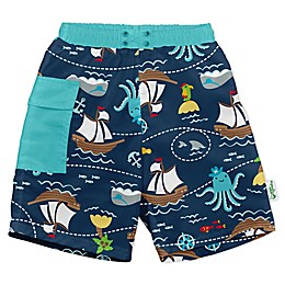 i play.® by green sprouts® Pirate Swim Trunks and Diaper in Navy