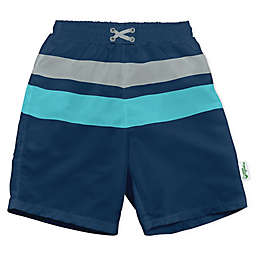 i play.® by green sprouts® Stripe Swim Trunks and Diaper in Navy