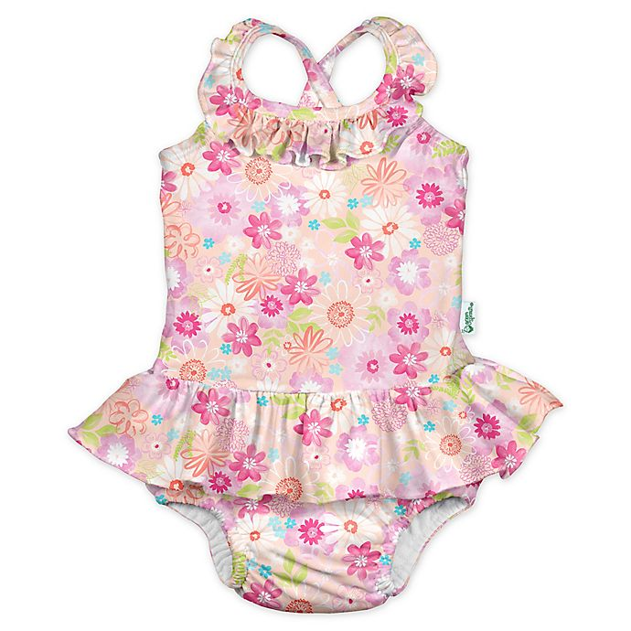 Alternate image 1 for i play.® by green sprouts® Size 24M Watercolor Swimsuit and Diaper in Coral