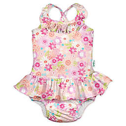 i play.® by green sprouts® Size 24M Watercolor Swimsuit and Diaper in Coral