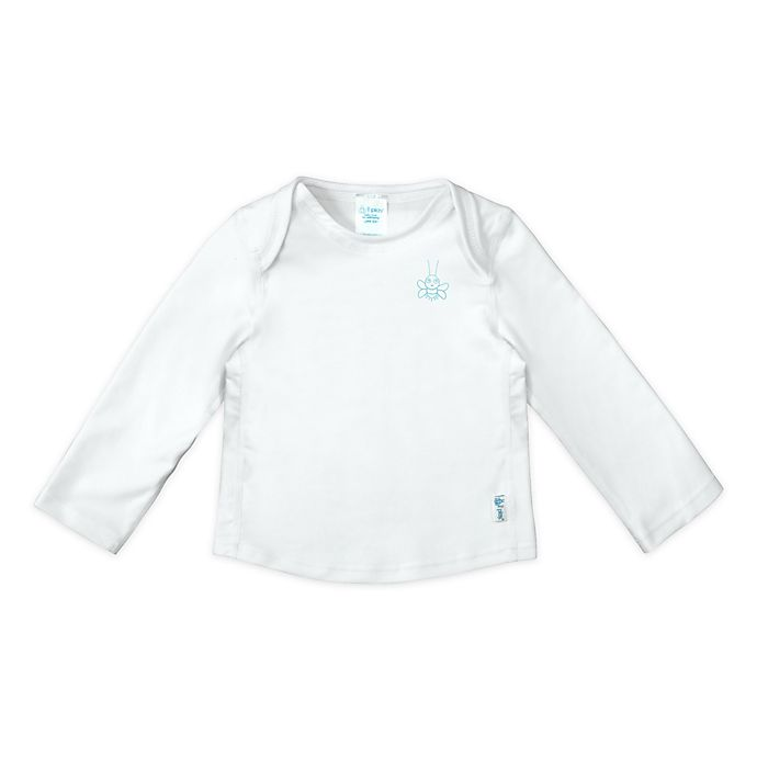 Alternate image 1 for i play.® by green sprouts® Size 12M Long Sleeve Rashguard in White