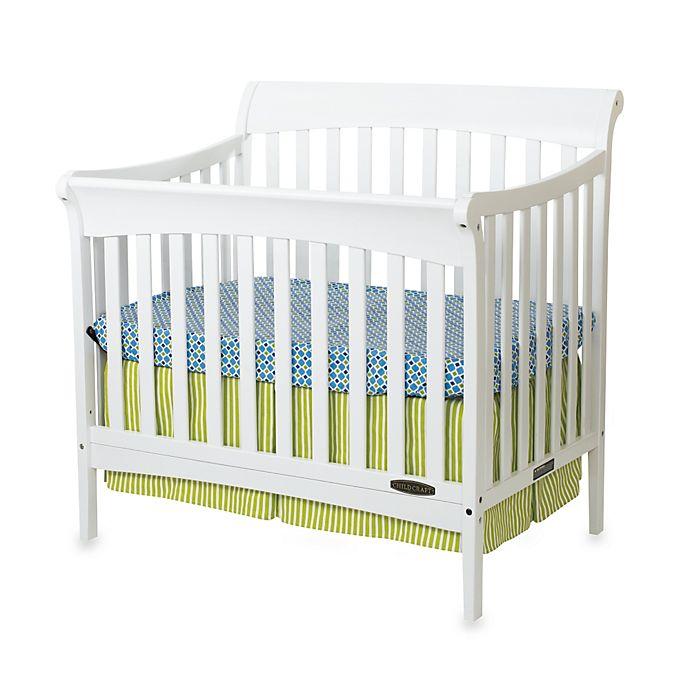 Child Craft Coventry Mini 4 In 1 Convertible Sleigh Crib