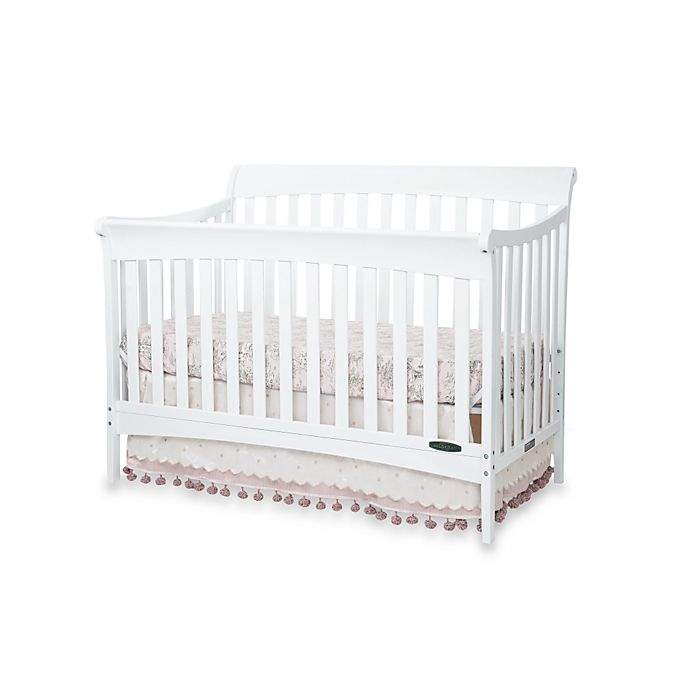 Child Craft Coventry 4 In 1 Convertible Sleigh Crib Matte White