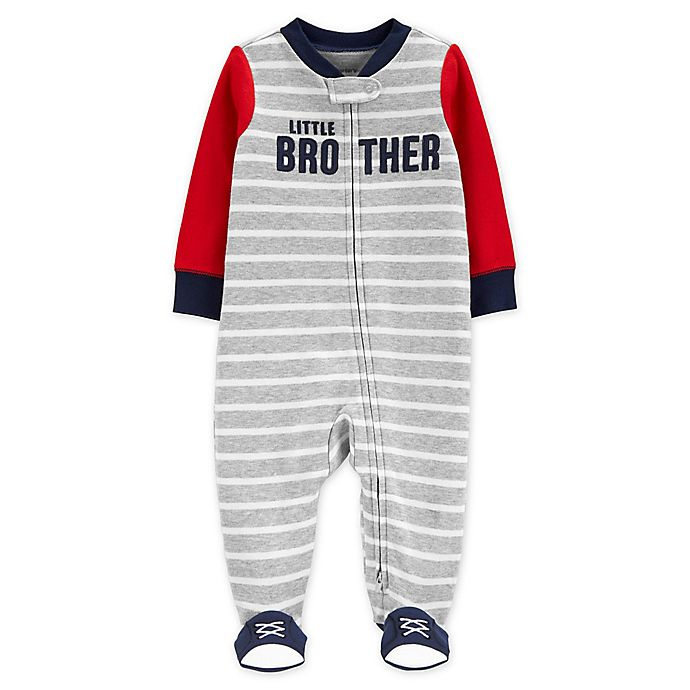 Alternate image 1 for carter's® Size 6M Zip-Front Little Brother Sleep & Play Footie