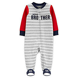 carter's® Size 3M Zip-Front Little Brother Sleep & Play Footie