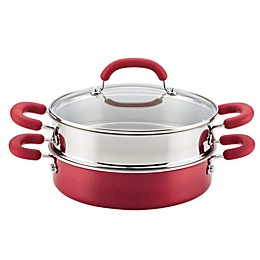 Rachael Ray™ Create Delicious Nonstick 3-Piece Steamer Set in Red