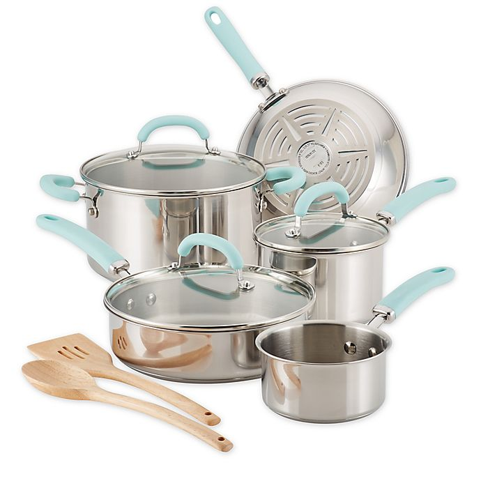 Alternate image 1 for Rachael Ray™ Create Delicious Stainless Steel 10-Piece Cookware Set