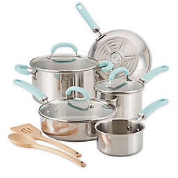Rachael Ray™ Create Delicious Stainless Steel 10-Piece Cookware Set