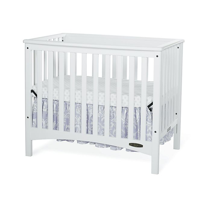 Alternate image 1 for Child Craft™ London Euro 2-in-1 Mini Crib in White