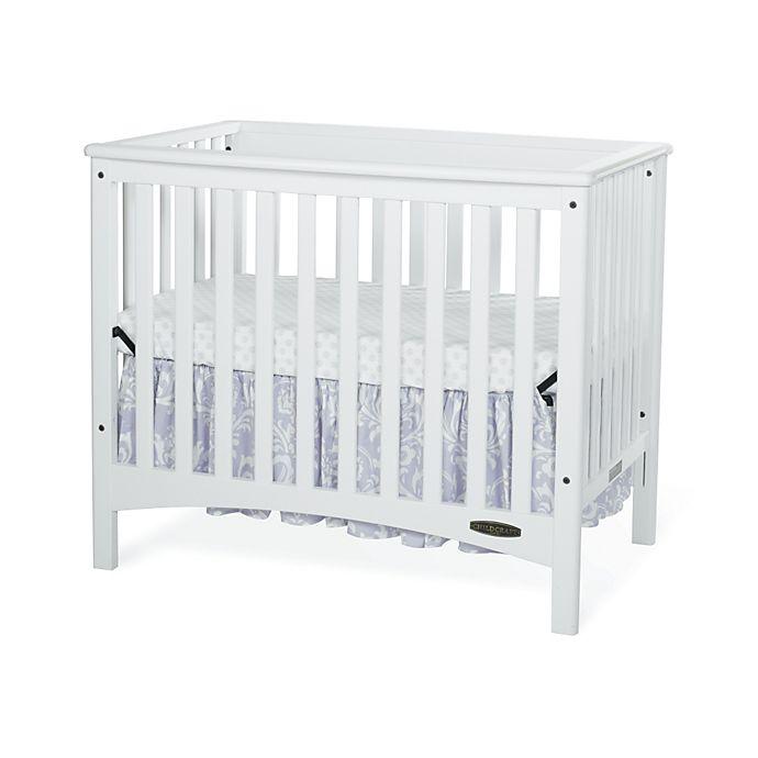 Alternate image 1 for Child Craft™ London Euro 2-in-1 Mini Crib in White