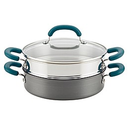 Rachael Ray™ Create Delicious Nonstick Hard-Anodized 3-Piece Steamer Set in Teal