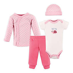 Luvable Friends® Preemie 4-Piece Ladybug Layette Set in Pink
