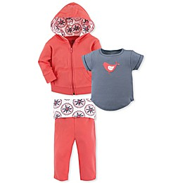 Yoga Sprout® 3-Piece Bird Toddler Jacket, Top and Pant Set in Blue