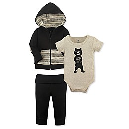Yoga Sprout 3-Piece Hugs Jacket, Bodysuit and Pant Set in Beige