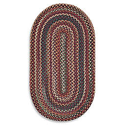 Capel Rugs Sherwood Forest Oval Rug in Red