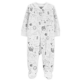 carter's® Zip-Front Animals Sleep & Play Footie