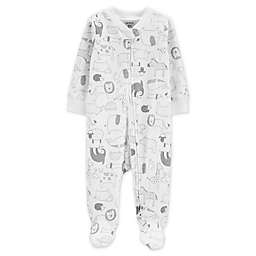 carter's® Size 3M Zip-Front Animals Sleep & Play Footie