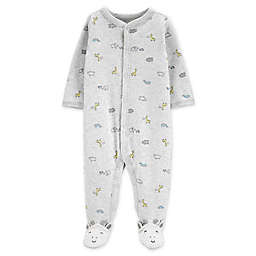 carter's® Size 3M Snap-Front Giraffe Sleep & Play Footie