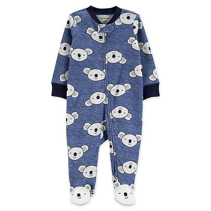 Alternate image 1 for carter's® Koala 2-Way Zip Sleep & Play Footie