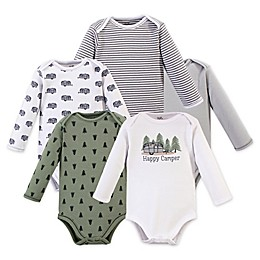 Touched by Nature 5-Pack Camper Long Sleeve Organic Cotton Bodysuits