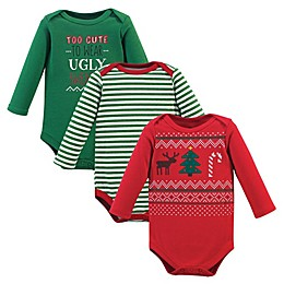 Little Treasure 2-Pack Ugly Sweater Long Sleeve Bodysuits