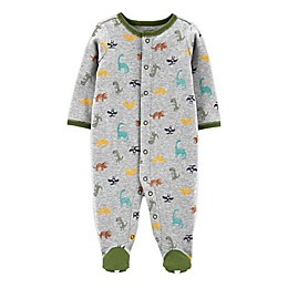 carter's® Preemie Dinosaur Footie in Grey