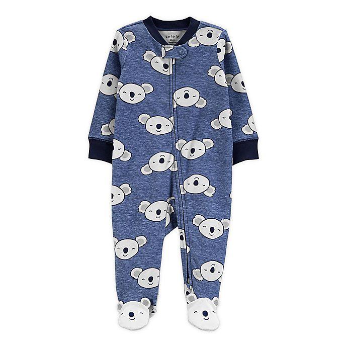 Alternate image 1 for carter's® Preemie Koala Footie in Blue