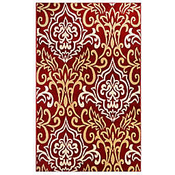 Home Dynamix Westwood Damask Rug in Red