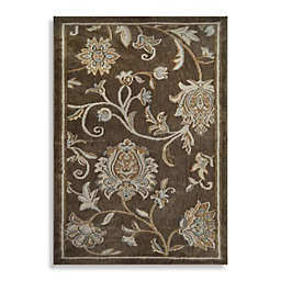 Home Dynamix Westwood 1-Foot 6-Inch x 2-Foot 6-Inch Floral Washable Accent Rug in Taupe