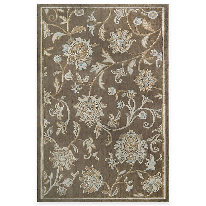 Alternate image 1 for Westwood Floral Washable Accent Rug in Taupe