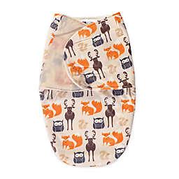 Hudson Baby® Size 0-3M Plush Forest Swaddle in Orange