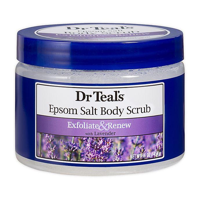 Alternate image 1 for Dr Teal's® 16 oz. Epsom Salt Body Scrub with Lavendar
