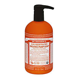 Dr. Bronner's 24 oz. Organic Pump Soap (Sugar 4-in-1) Tea Tree